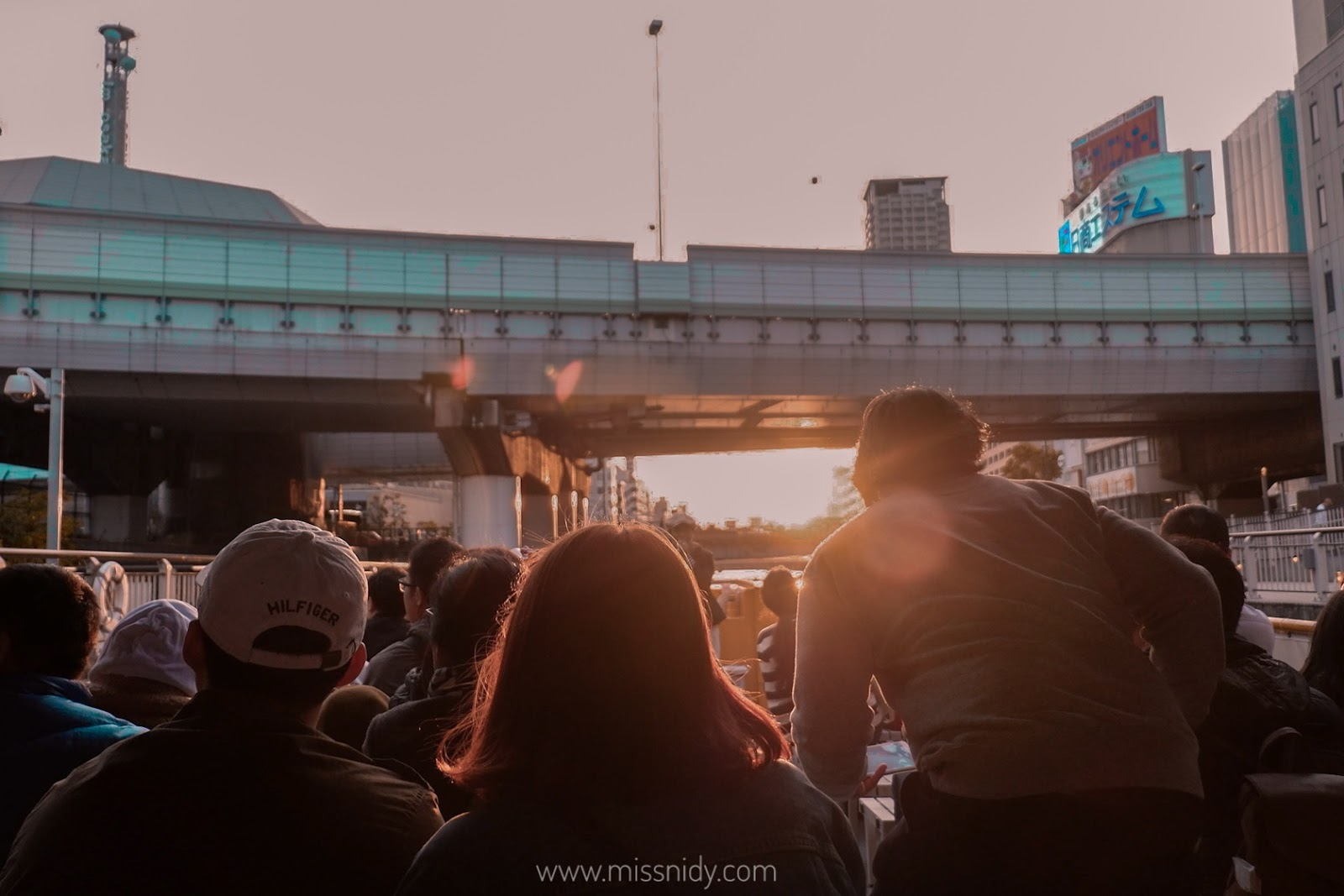 sunset cruise at dotonbori osaka