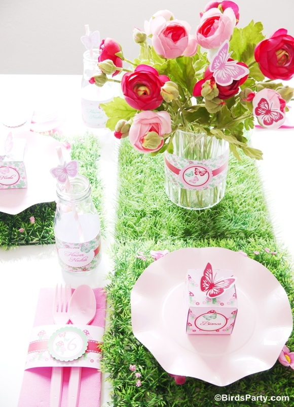 Pink Pixie Fairy Birthday Party Table Styling - BirdsParty.com