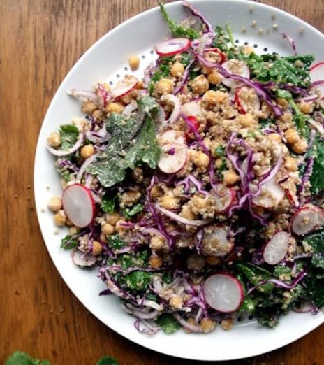 Baby Kale Quinoa Salad with Chargrilled Veg