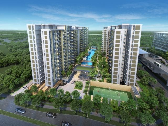 Khuân viên chung cư B2.1 HH03 Thanh Hà