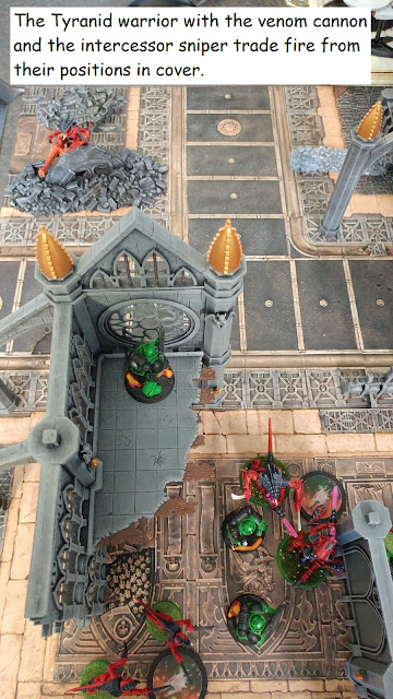 Warhammer 40k Kill Team battle report Tyranids vs Adeptus Astartes