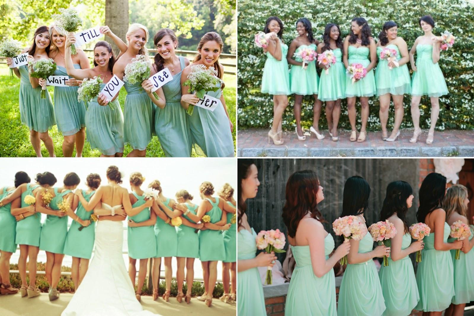 inspiring mint green wedding ideas mint wedding dress If you love white wedding dress better than mint wedding dress mint bridesmaid dresses are necessary for your wedding Whatever long or short bridesamaid