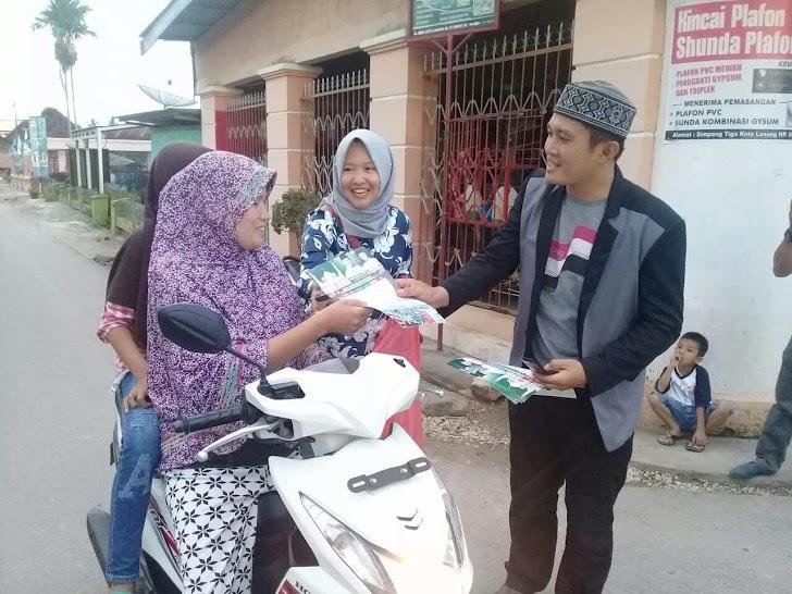 Hebat... Garda dan Srikandi Zainal Arsal Rame-rame Sapa Warga di Simpang Koto Lanang