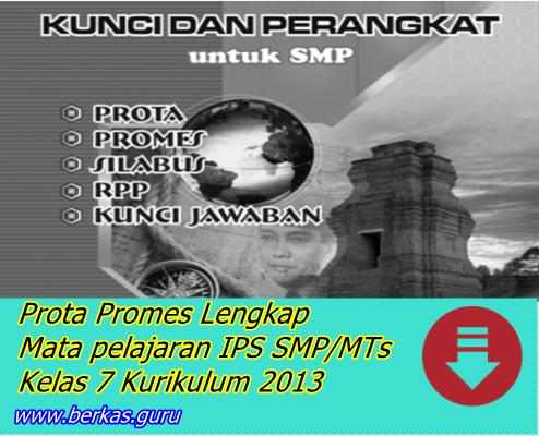 Prota Promes Lengkap Mata pelajaran IPS SMP/MTs Kelas 7 Kurikulum 2013