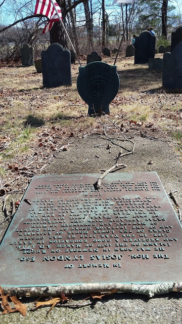RI Historical Cemetery Warren #3 - grave of grave of Governor Josias Lyndon