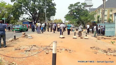 Tension In Abuja As Police & Soldiers Clash With Road Safety Officers