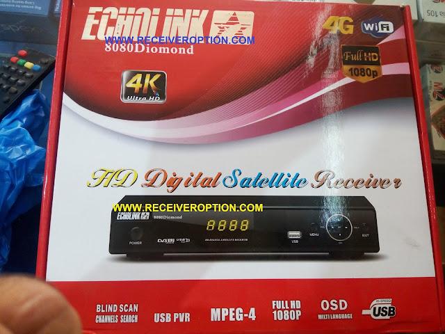 ECHOLINK 8080 DIOMOND HD RECEIVER BISS KEY OPTION