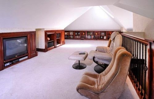 Anyway, check out these cool attics. Some are a bit too swanky for me. I  love the cozy ones .