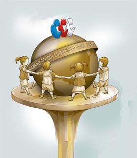 rancangan desain monumen bola dunia