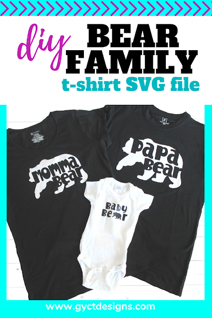 Create your own family bear tshirts with these SVG files found in Cricut Design Space. #ad