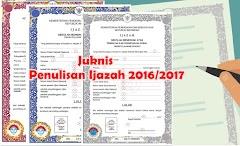 Petunjuk Pengisian Ijazah 2016/2017 SD/SMP/SMA Lengkap dengan Contoh Blangko