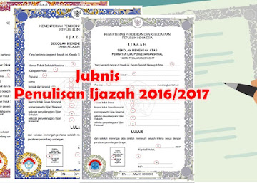 Juknis Pengisian Ijazah Tahun Pelajaran 2016/2017 SD/SMP/SMA