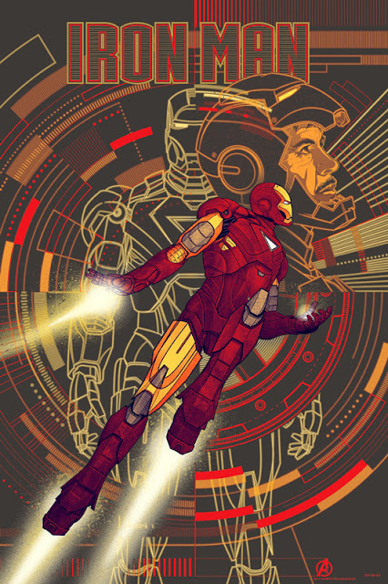 Mondo - Iron Man The Avengers Variant Screen Print by Kevin Tong