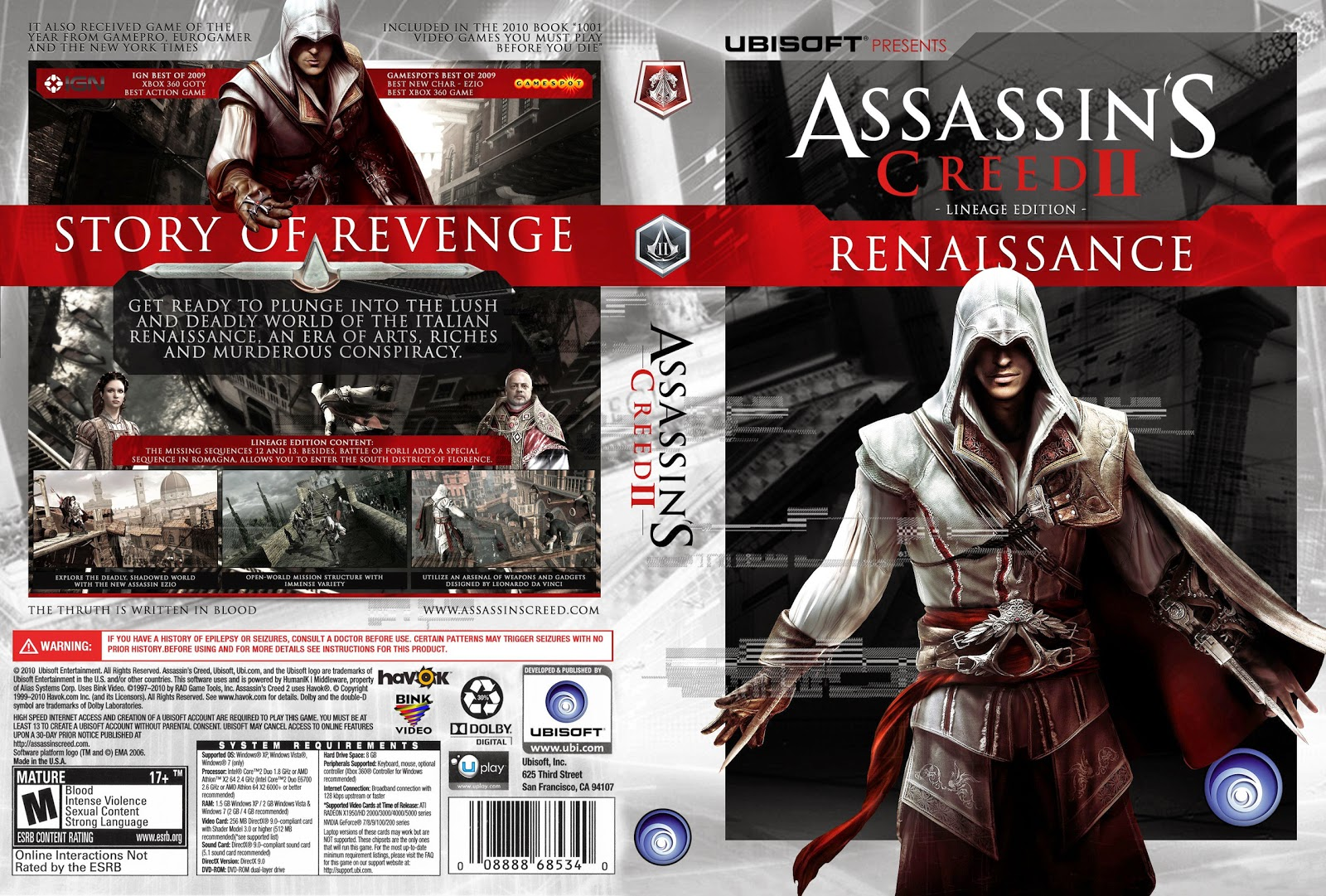 Capa Assassins Creed III Renaissance Lineage Edition PC