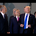 Trump The Bully...shoves PM of Montenegro aside to find his place at the centre of a NATO group photo (video)
