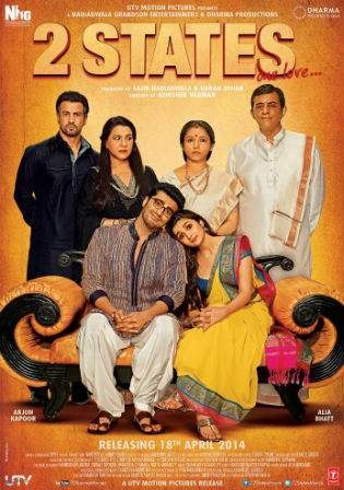 2 States 2014 DVDRip 400MB Full Hindi Movie Download 480p Watch Online bolly4u