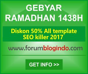 Gebyar Ramadhan 1438H-Template SEO Premium Diskon 50%