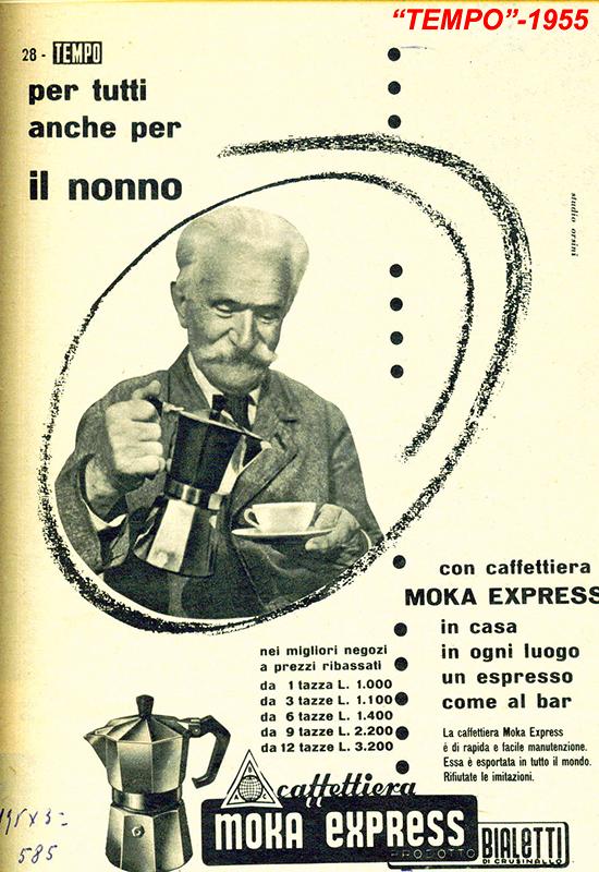 Bialetti advertising 1955 - Tempo