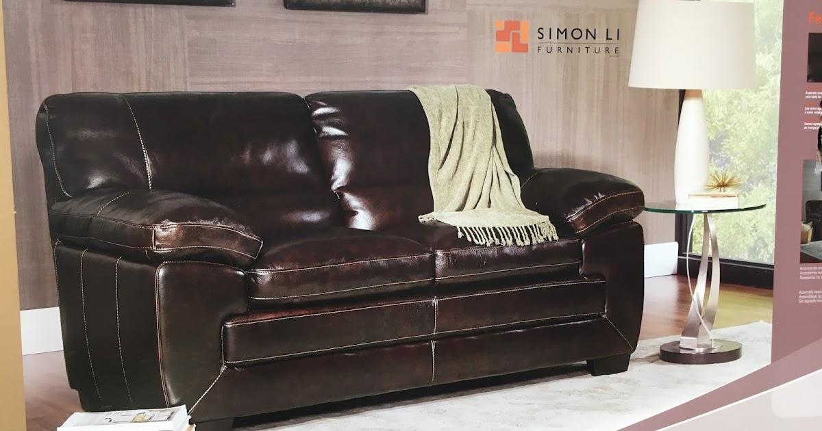 Simon Li Richland Leather Loveseat