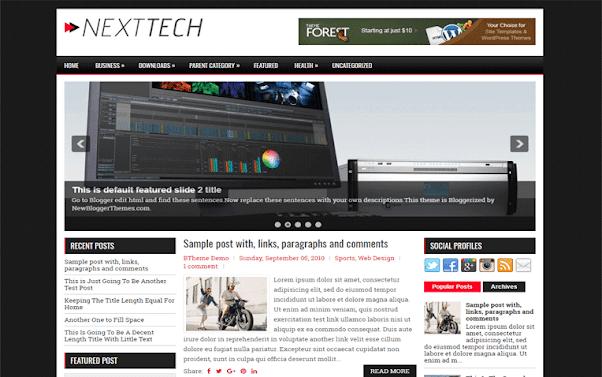 NextTech Free Blogger Template