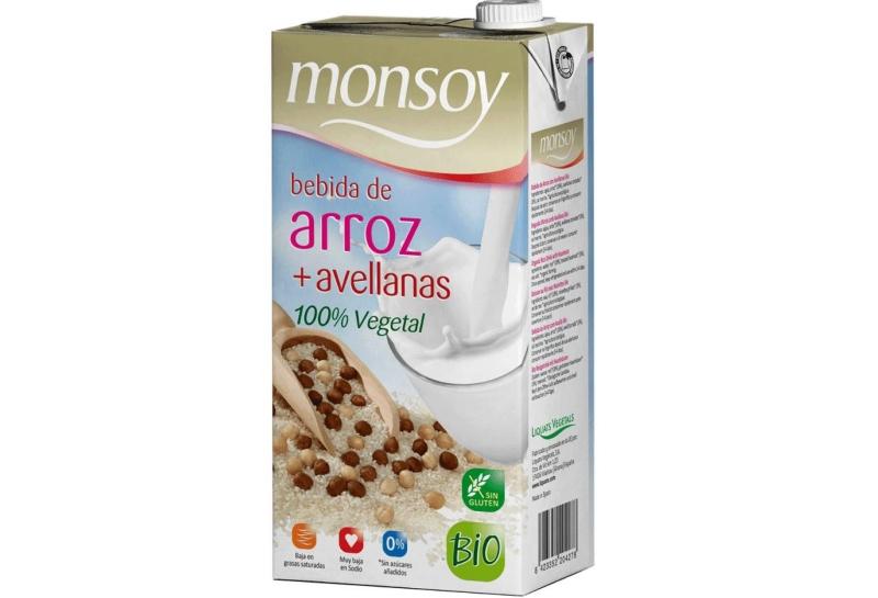 Bebida de arroz e avelã da Monsoy