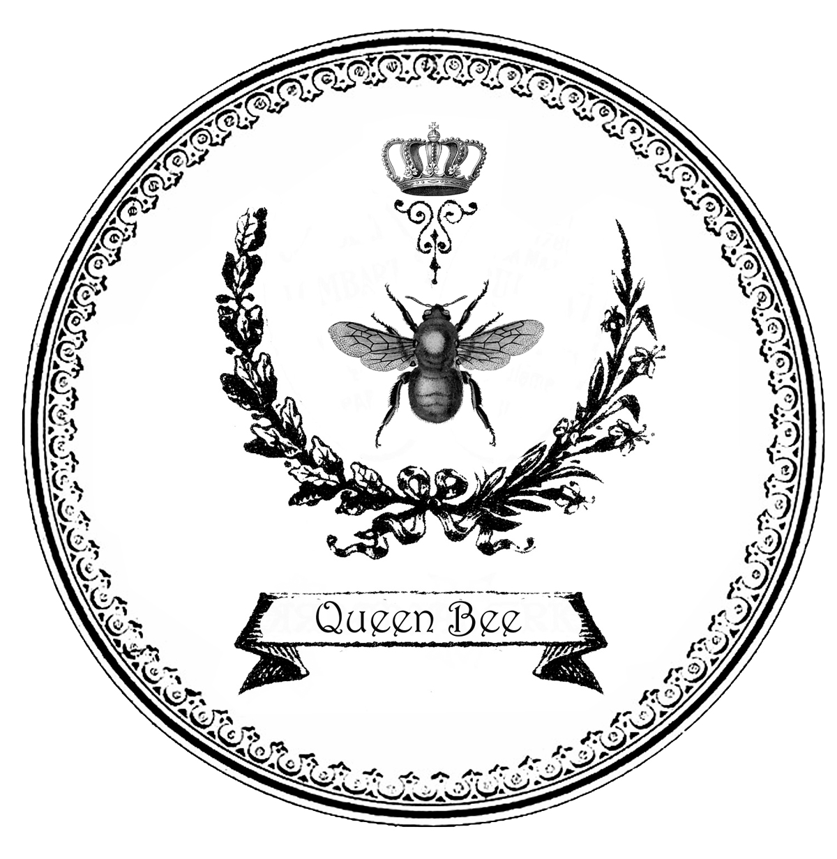 Free Graphic Queen Bee Tags