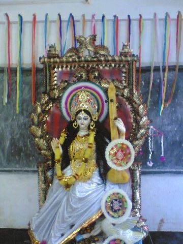 Swaraswati Pujo at SHS ~ www.salboni.co.in