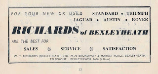 W T Richards Brands Hatch program advert 18 May 1959
