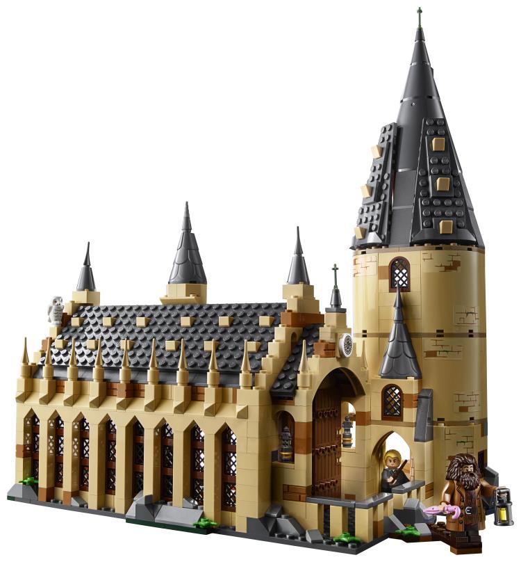 Lego Draco Malfoy, Hagrid, and Hogwarts castle
