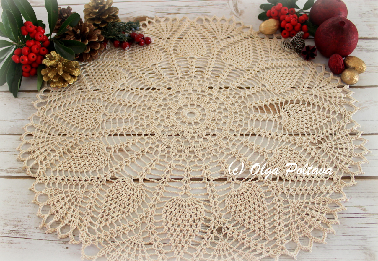 Lacy Crochet: Happy New Year and a New Doily Free Crochet Pattern