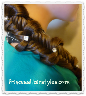 fishtail braid with bows, back to school hairstyle idea