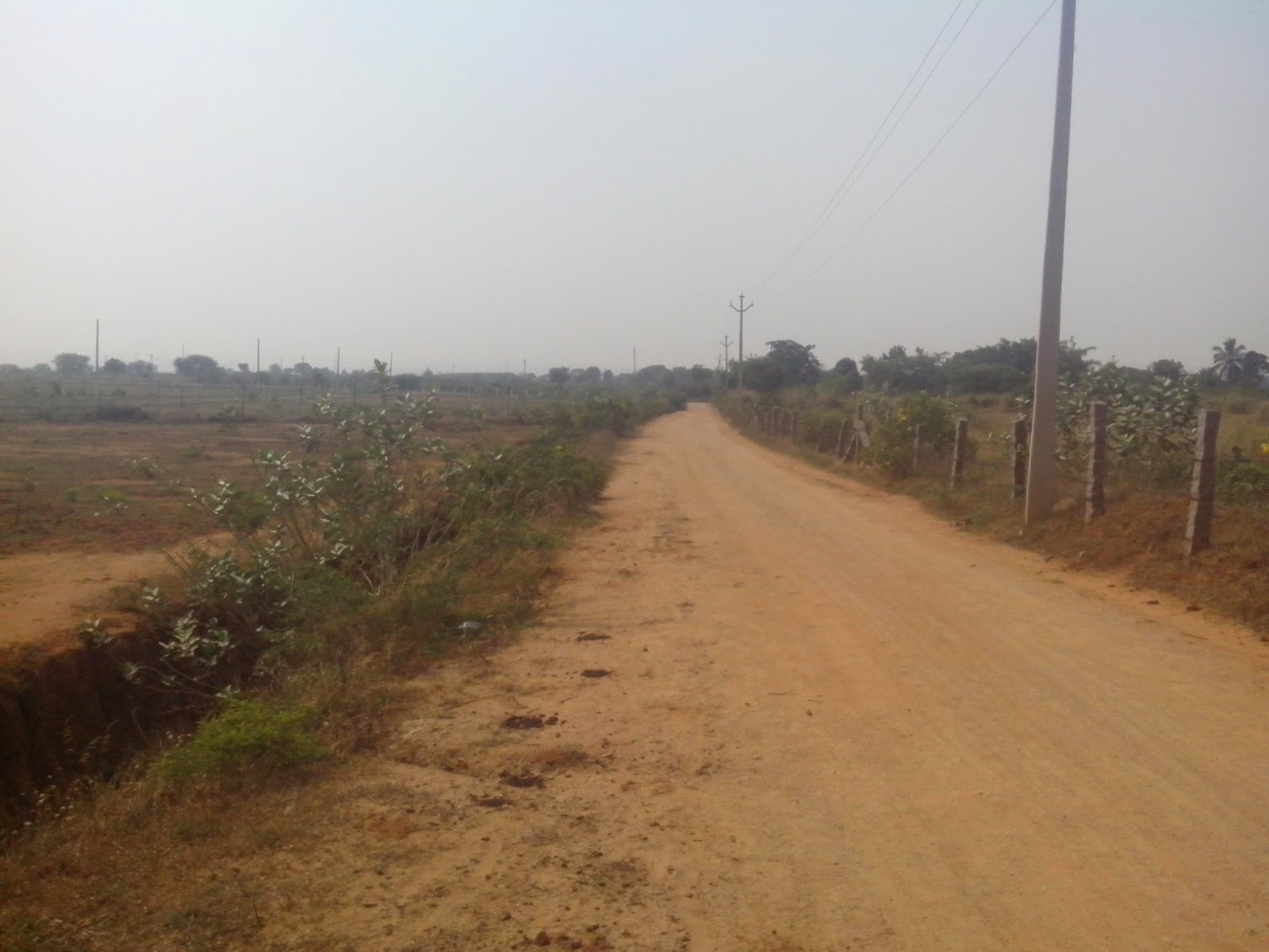 23 acres plain land for Sale at Yacharam, 1 5 KM from Sagar Highway