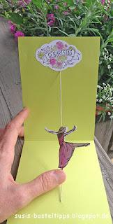 Spinner Karte zum Geburtstag mit Stampiin up stempelset mit stil von demonstratorin in coburg