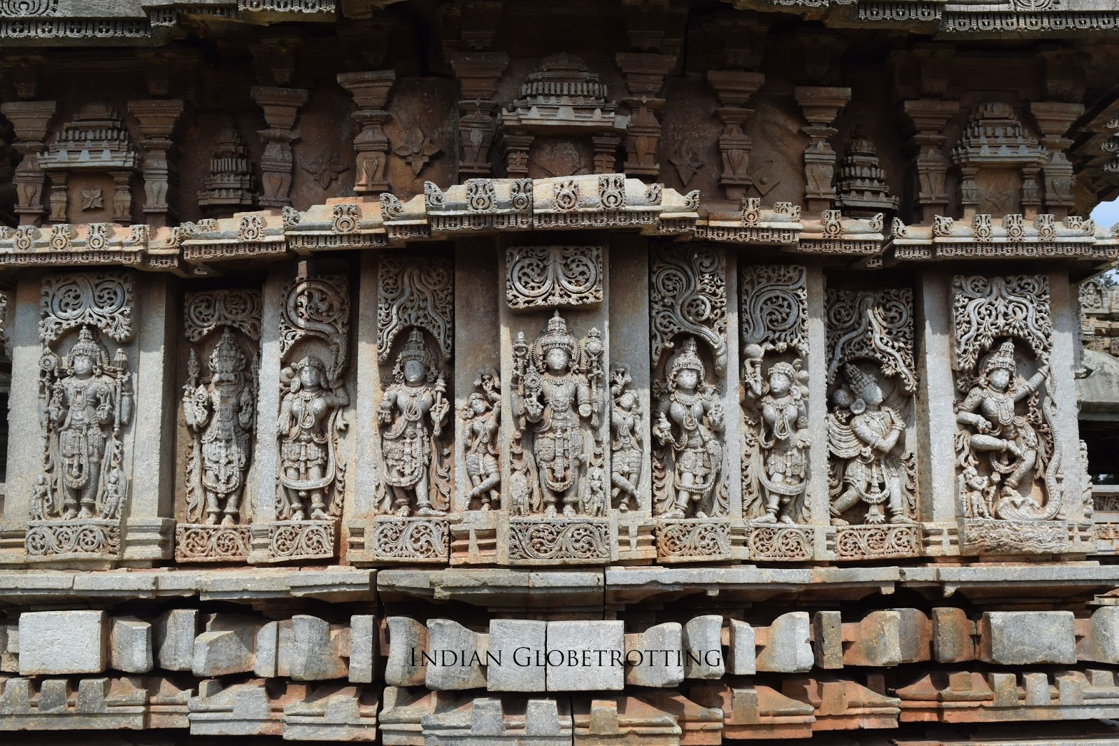 Carved walls of Belavadi Veeranarayana Temple