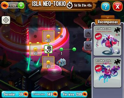 imagen de reunir piezas de la isla neo tokyo