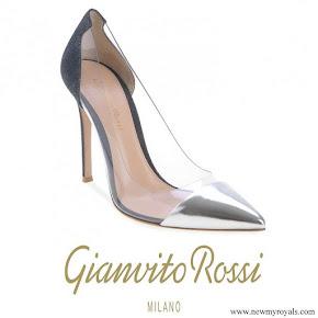Queen Maxima wore Gianvito Rossi plexi pumps