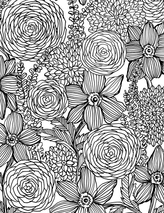 flower power coloring pages - photo#2