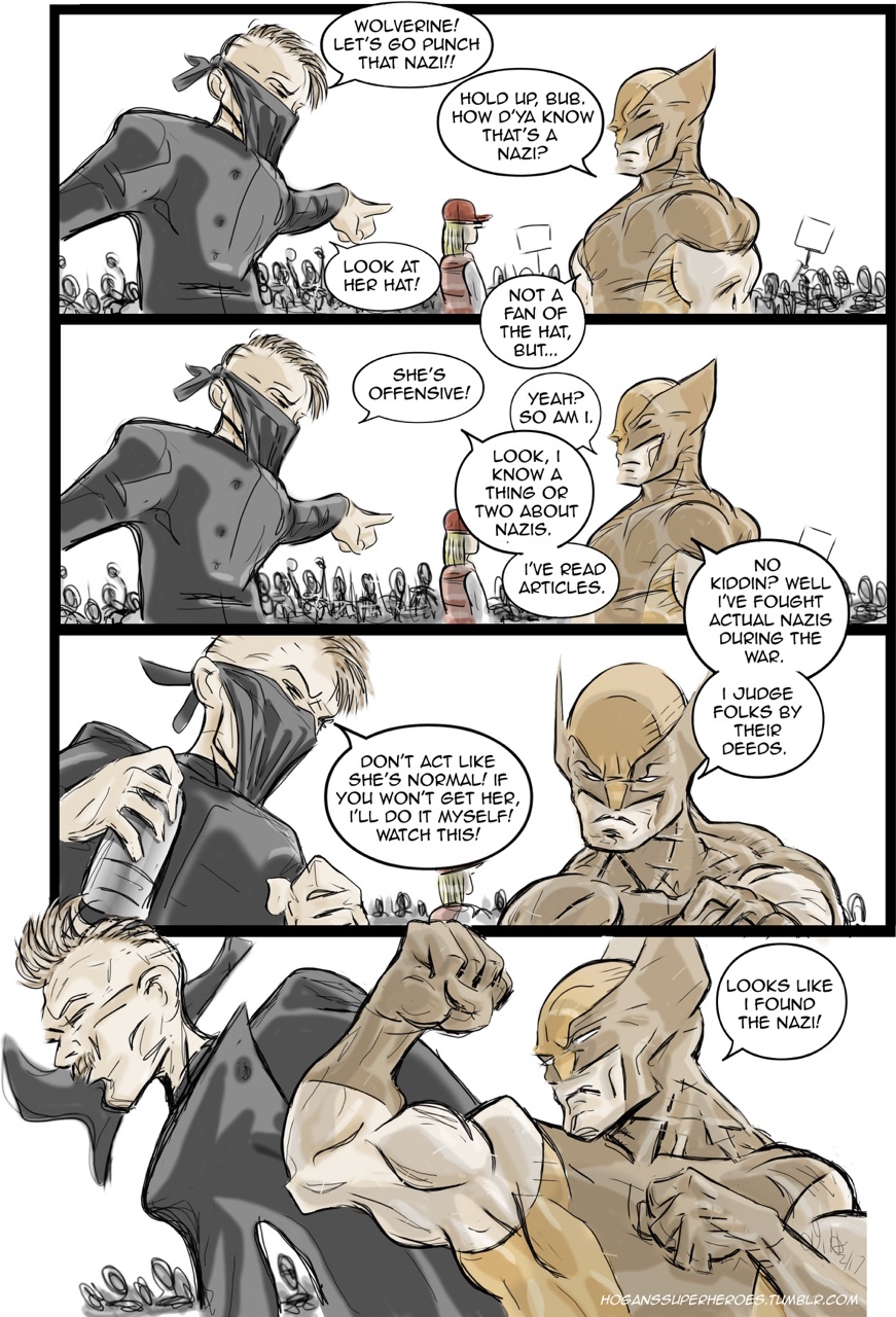 Wolverine vs a Nazi