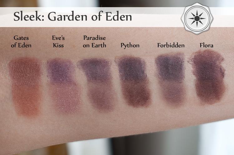 Sleek: Garden of Eden swatche