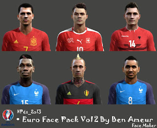 Pes 2013 Euro Face Pack 2016 Vol 2 By Ben Ameur