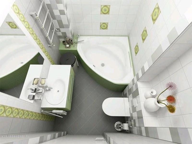 Ванная комната в зеленом цвете