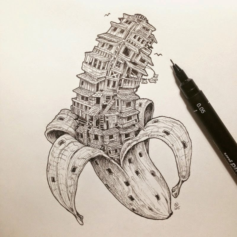 06-Bananaville-Kerby-Rosanes-Detailed-Moleskine-Doodles-Illustrations-and-Drawings-www-designstack-co