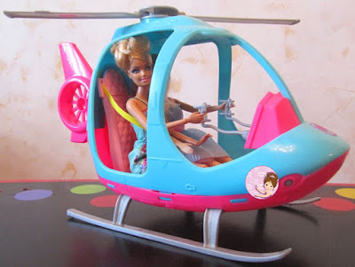 Pink Barbie helicopter