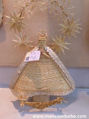 Virgen de la Salud de Pátzcuaro hecha con Fibras Vegetale