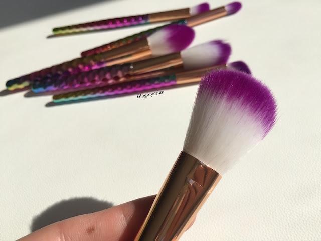 to save alışverişi unicorn makyaj fırça seti 8