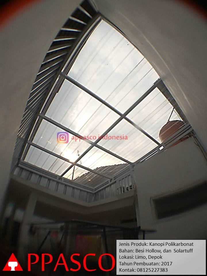 Kanopi polikarbonat solartuff di Limo Depok