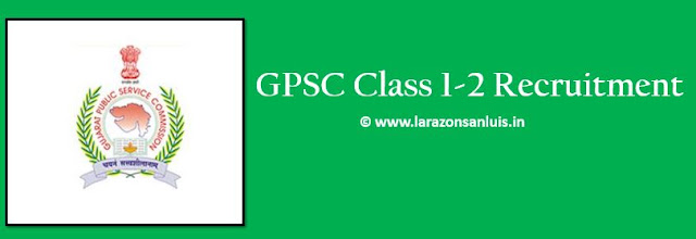 GPSC Class 1-2 Recruitment 2018