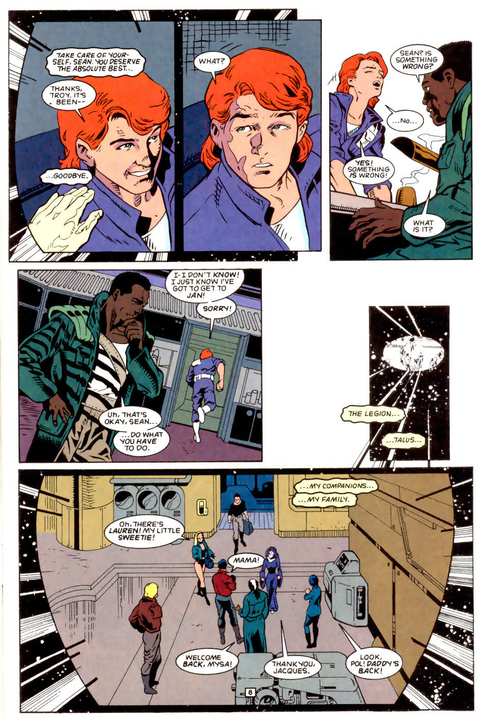 Legion of Super-Heroes (1989) 50 Page 8