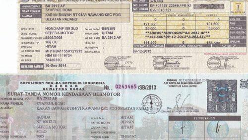 download Contoh Surat Kuasa Perpanjangan STNK  Bingkai