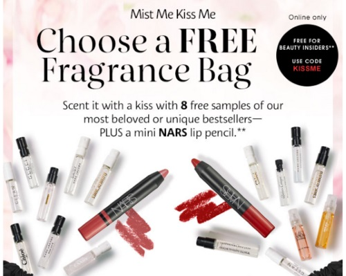 Sephora Free Fragrance Bag Promo Code